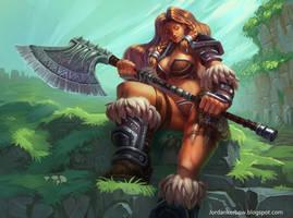 BigAxe Barbarian by JordanKerbow