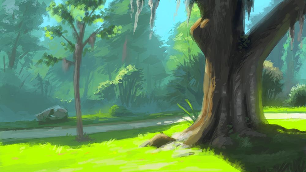 Park study by NadrojWobrek