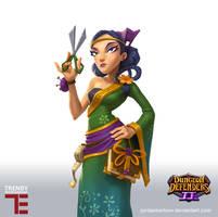 Dungeon Defenders 2 Costume shop Keeper by JordanKerbow