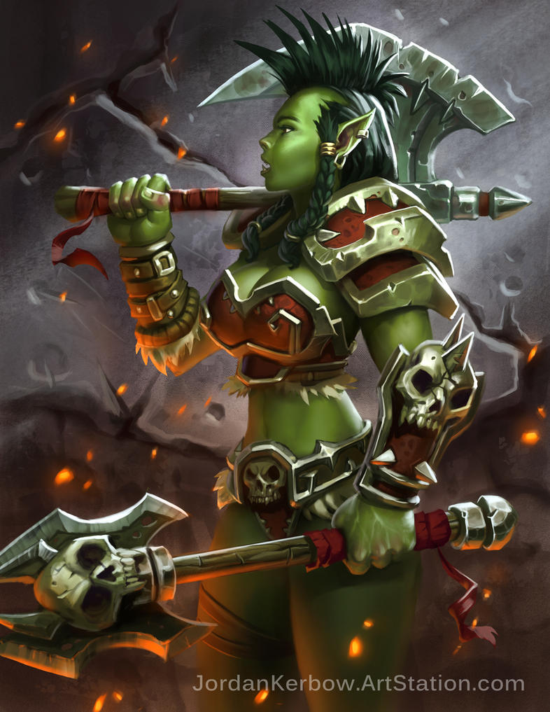 Something is. female orc warrior agree, this