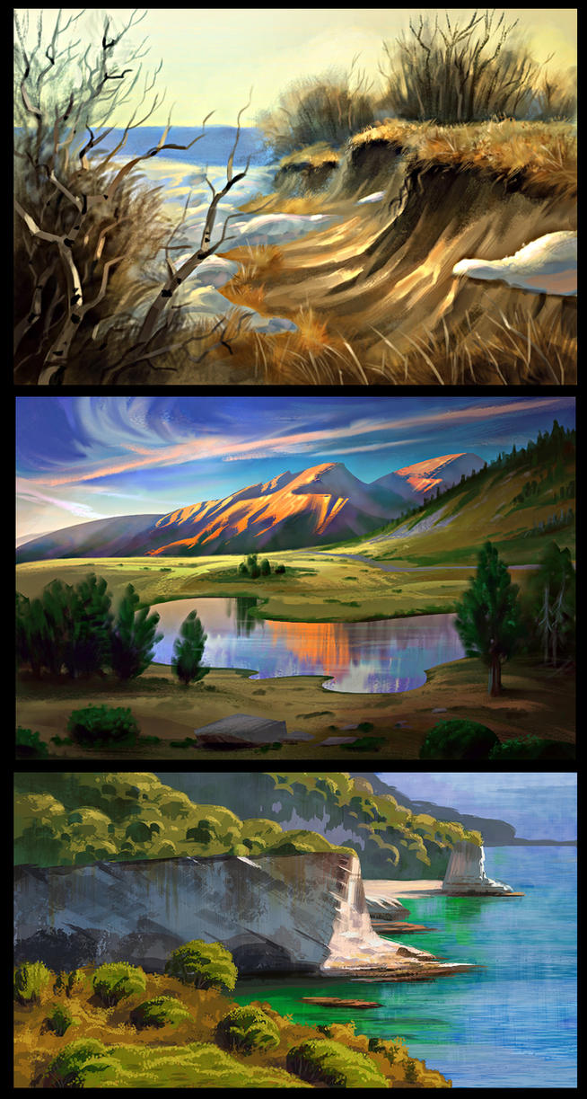 Landscape Studys by JordanKerbow