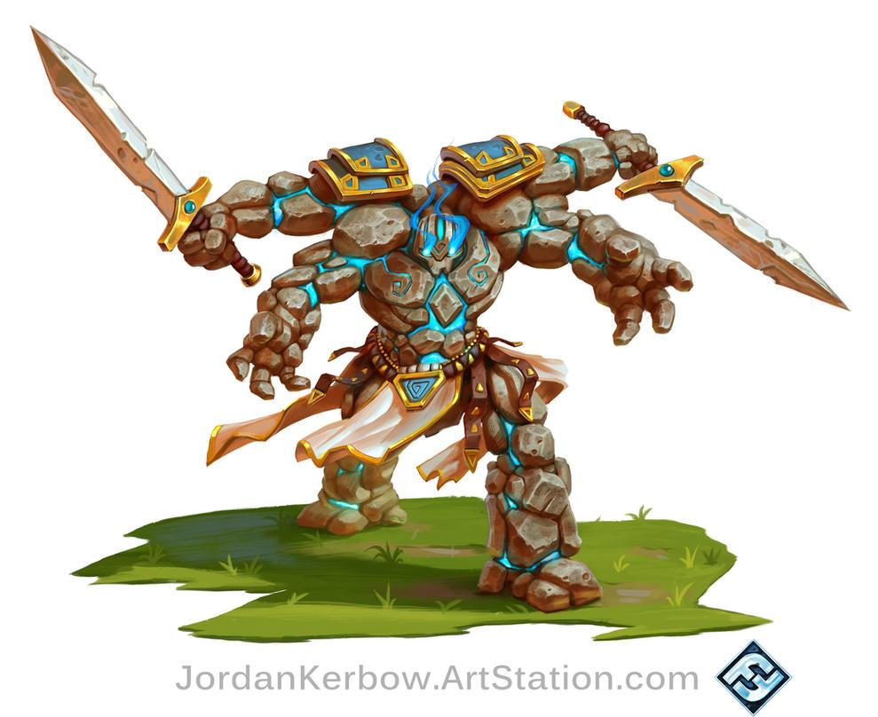 Rune Wars Golem by JordanKerbow