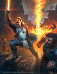 DnD: The fiery Cleric of Helm