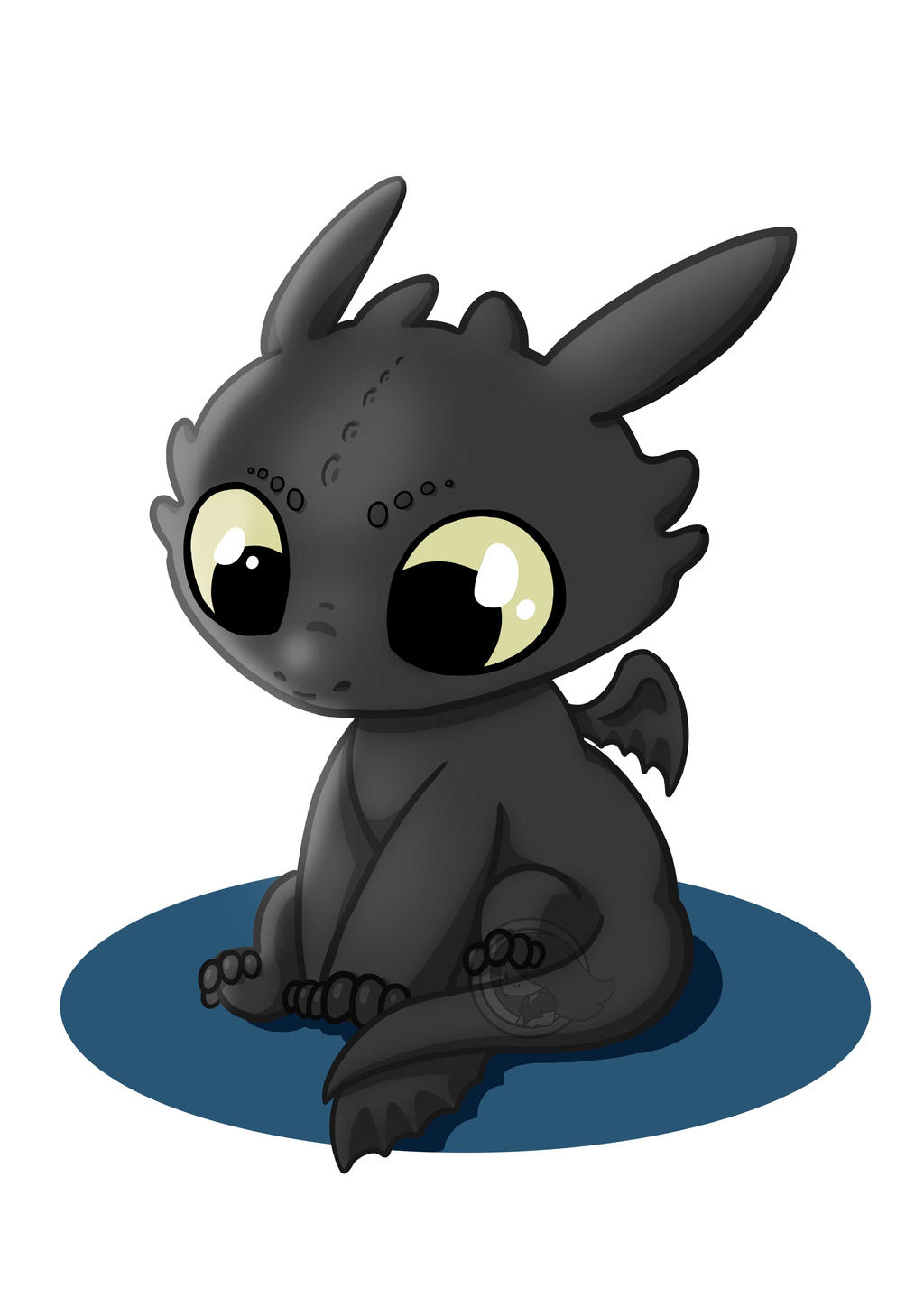 Krokmou / Toothless by Morgane-chouvier on DeviantArt - photo#32
