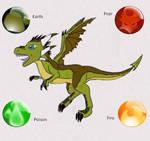 Crash Bandicoot - Baby T-Rex - Dragon Form