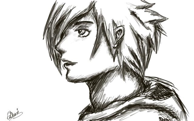 Anime Sketch 1 by mrgreendots on DeviantArt