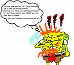 Spongebob is fed up with Jelenic and Horvath