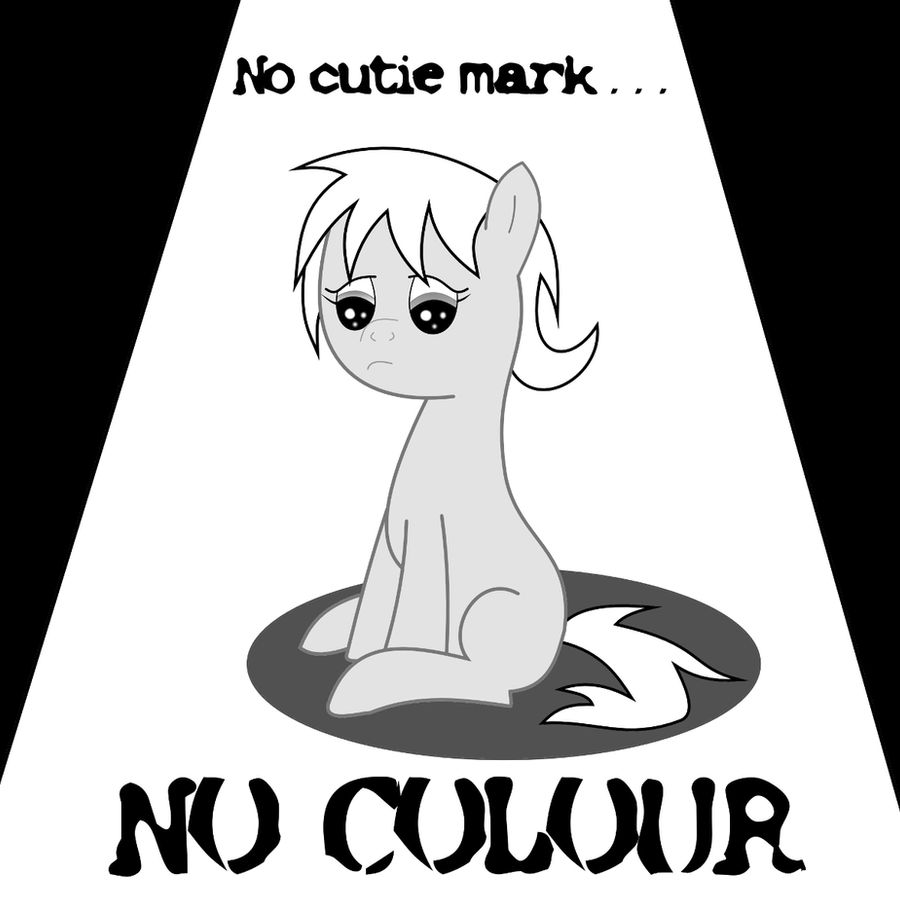 Grey Filly : No Cutie Mark, No Colour Request Done by razorsharpfang