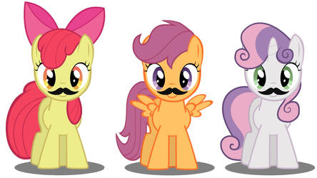 Cutie Mark Mustaches!