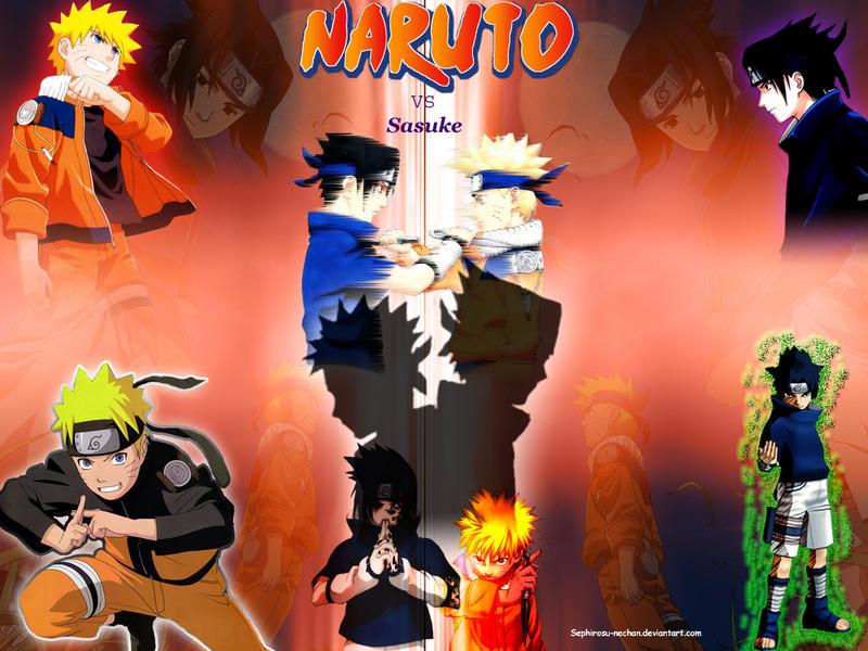 naruto vs sasuke wallpaper by sephirosu nechan