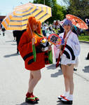 Yukata Rei and Asuka at Anime North 2014 #2