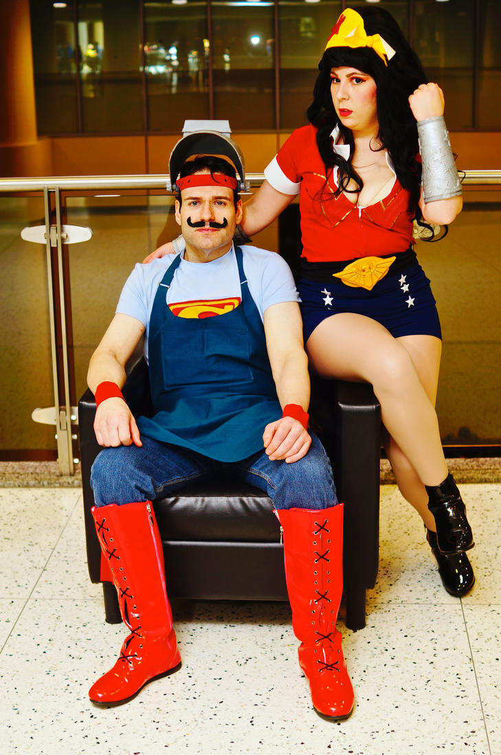 Bombshell Superman and Wonder Woman MTAC 2016 #01 by Lightning--Baron