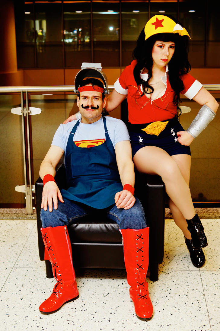 Bombshell Superman and Wonder Woman MTAC 2016 #02 by Lightning--Baron
