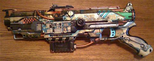 steampunk nerf blaster by Chaylar