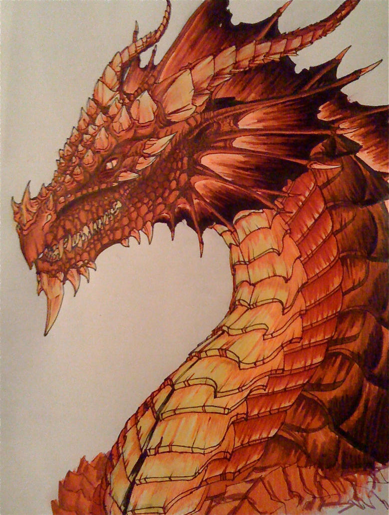 Red dragon by Chaylar on deviantART