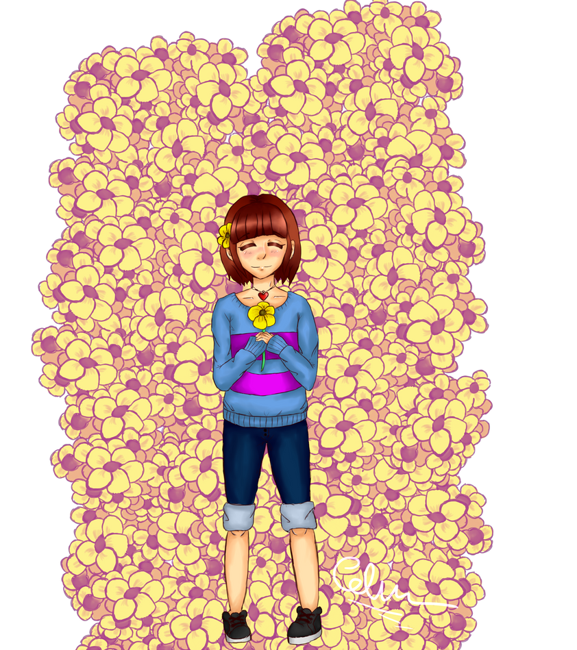 Frisk and flowers by CelMW