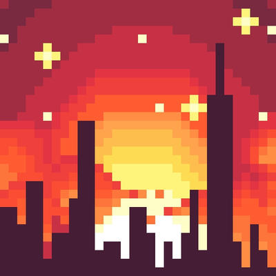 Pixel Sunset by DeltaAlternia77