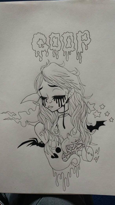 another spooky ink piece by DeltaAlternia77