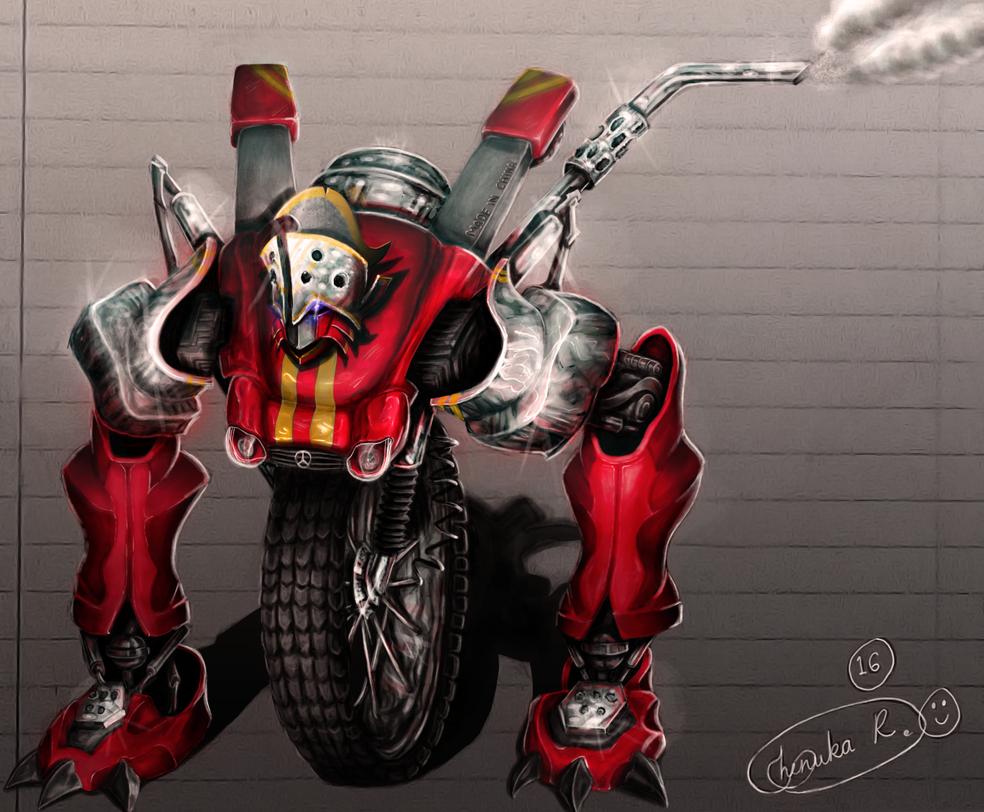 My robot OC friend by Chenks-R
