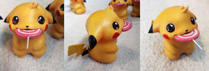 Pikachu with lollipop figure by Chenks-R