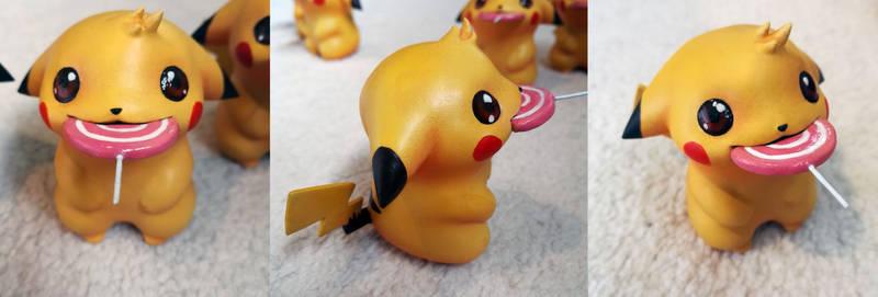 Pikachu with lollipop figure