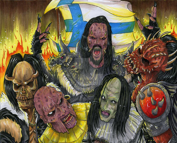 Lordi EuroVision Song Contest by Deviant7521
