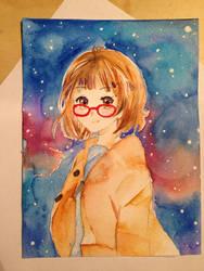 Mirai Kuriyama ( Kyoukai no Kanata ) by Lemonsquasch