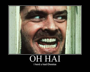 Jack Nicholson loooves Cheetos