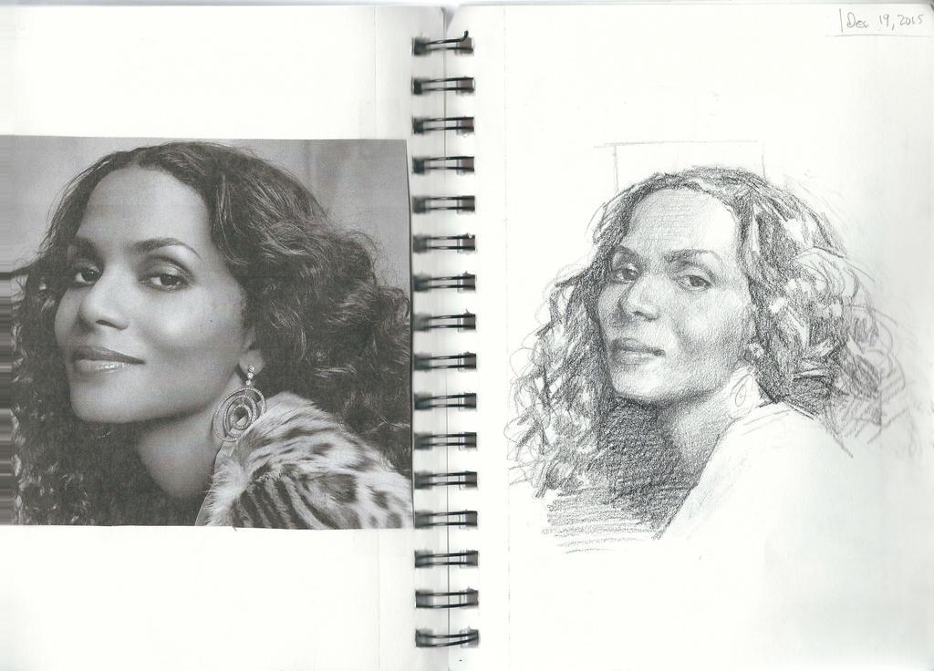 Portraits 97 - Halle Berry by KlavensCartoons