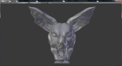 Sinister bat head sculpt (Blender) by VenusOfTheCrows