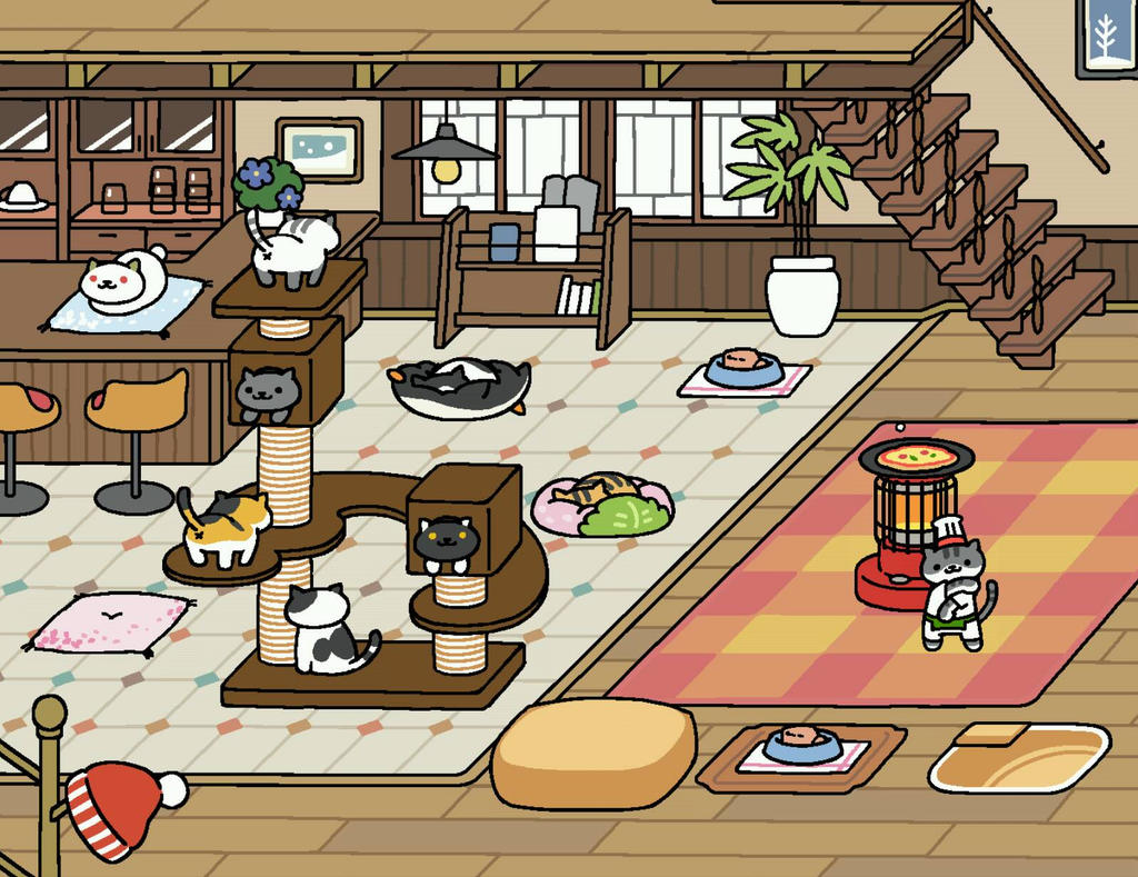 Neko Atsume Winter Theme 3 By