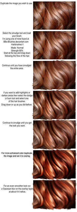 Smudged Hair Tutorial