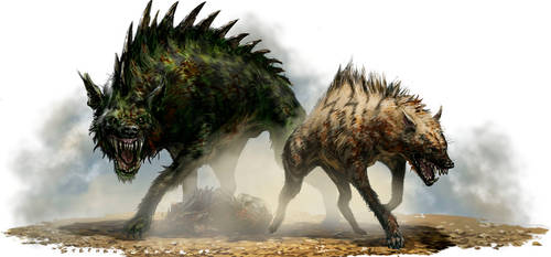 Hyenas by StephenCrowe
