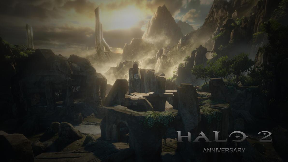 Halo 2 Anniversary Shrine Map Wallpaper Full HD By EliteSpartan1