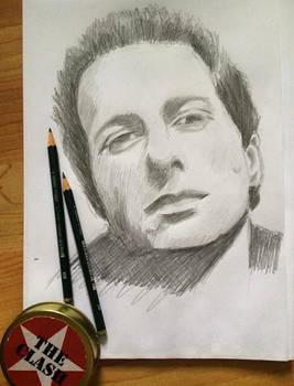 Sketch of Joe Strummer