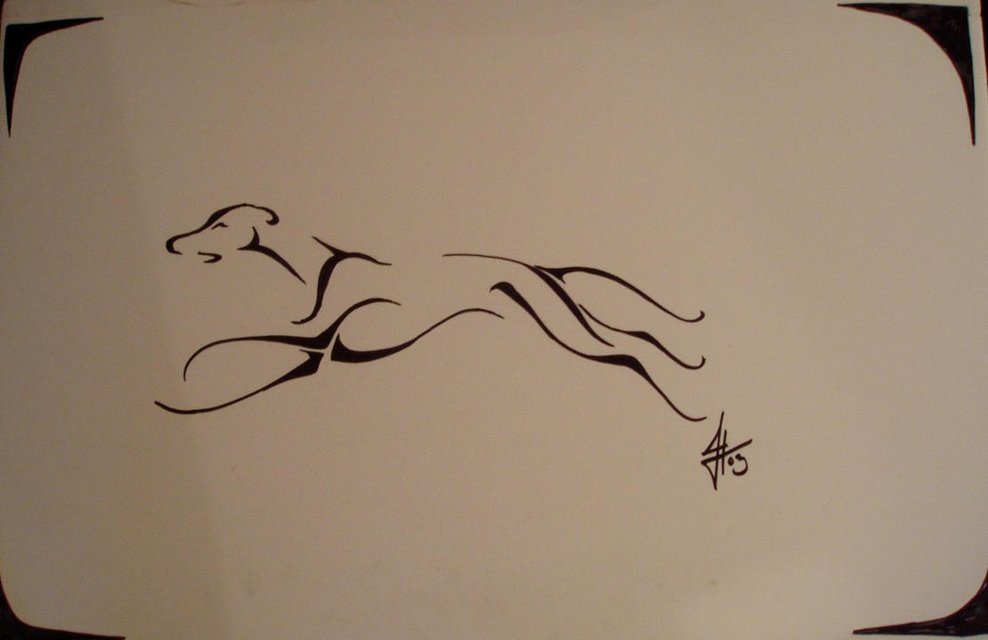 greyhound tribal tattoo by ssslipgrrrl