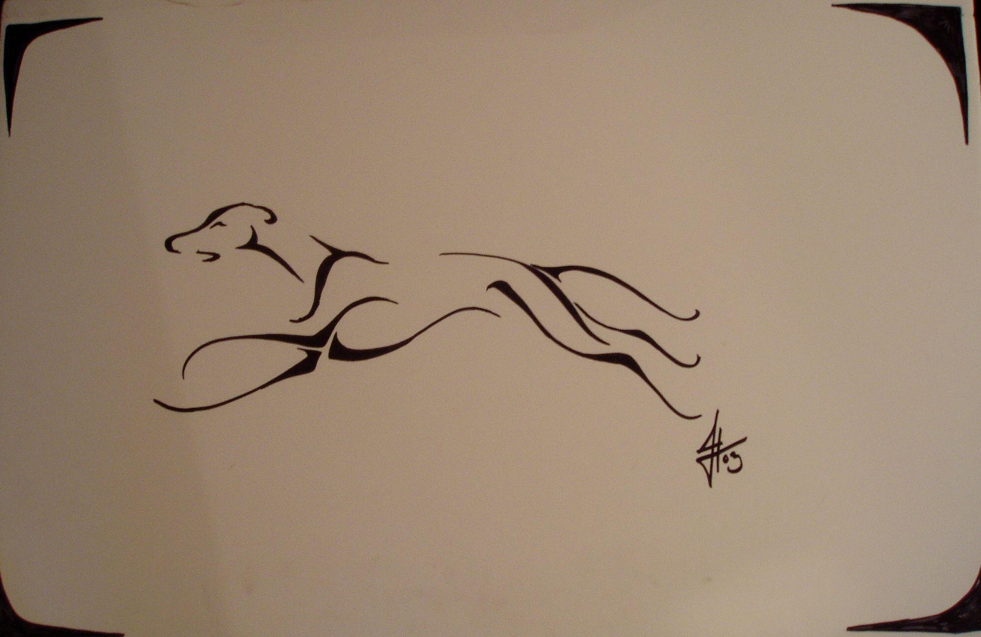 greyhound tribal tattoo by ssslipgrrrl