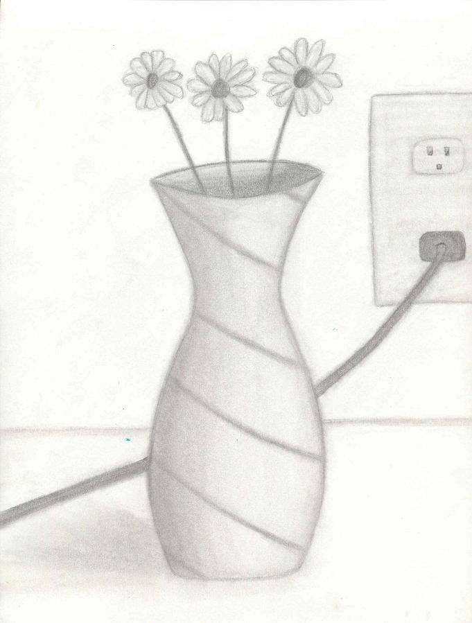 Shaded Flower Vase By Lordvoldemort788 On Deviantart