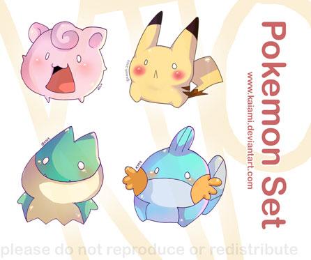 Pokemon Set by Kaiami