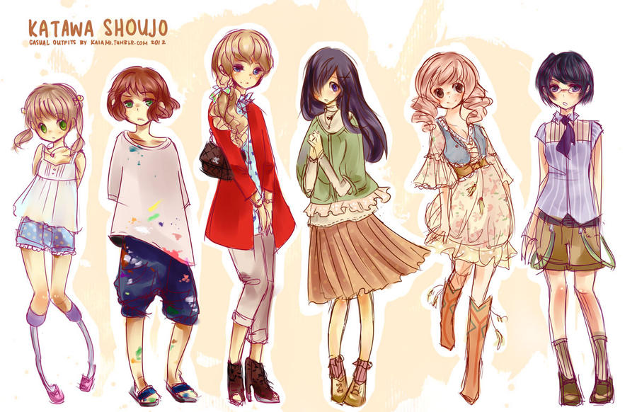outstanding anime girl casual outfits 11