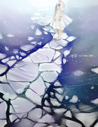 Walking on Ice by Kaiami