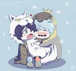 Gintama - Tiny Pengin and Wolfsuke