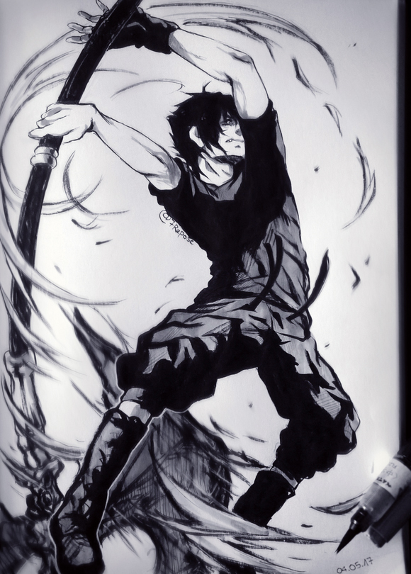 FFXV - Noctis (Traditional) by 7Repose
