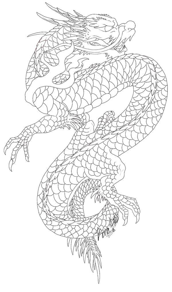 japanese dragon by varaann on deviantart. Black Bedroom Furniture Sets. Home Design Ideas