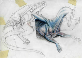 Facade Sketch by VaraAnn