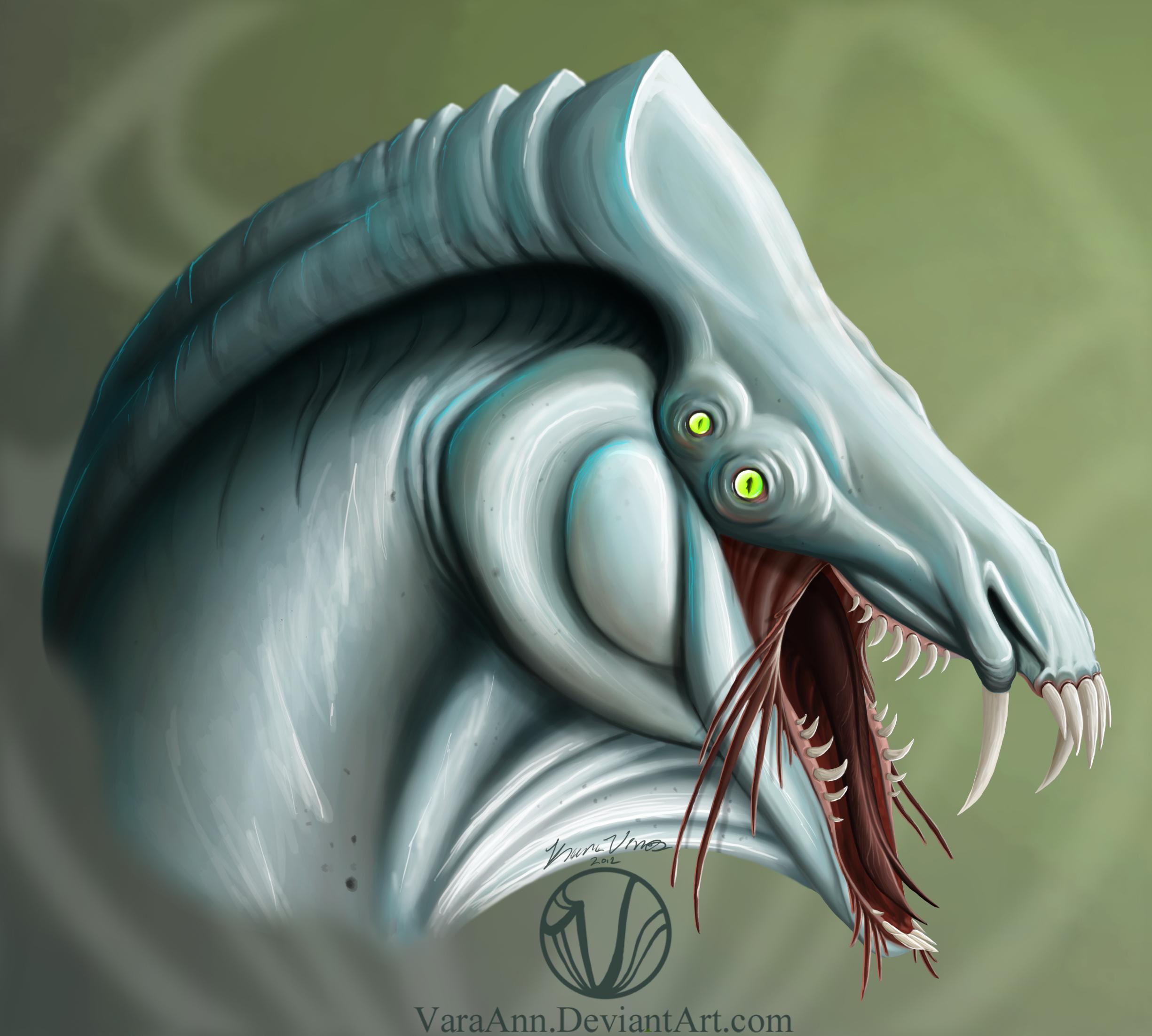 Alien Creature Concept by VaraAnn