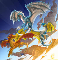Among Friends - Draconis, Thaz, and Vael by VaraAnn