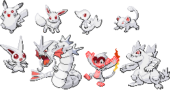 Albino Pokemon Sprite Set by srbarker