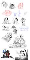 Big Sketch Dump - Lilo and Stitch