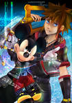 Sora and Mickey